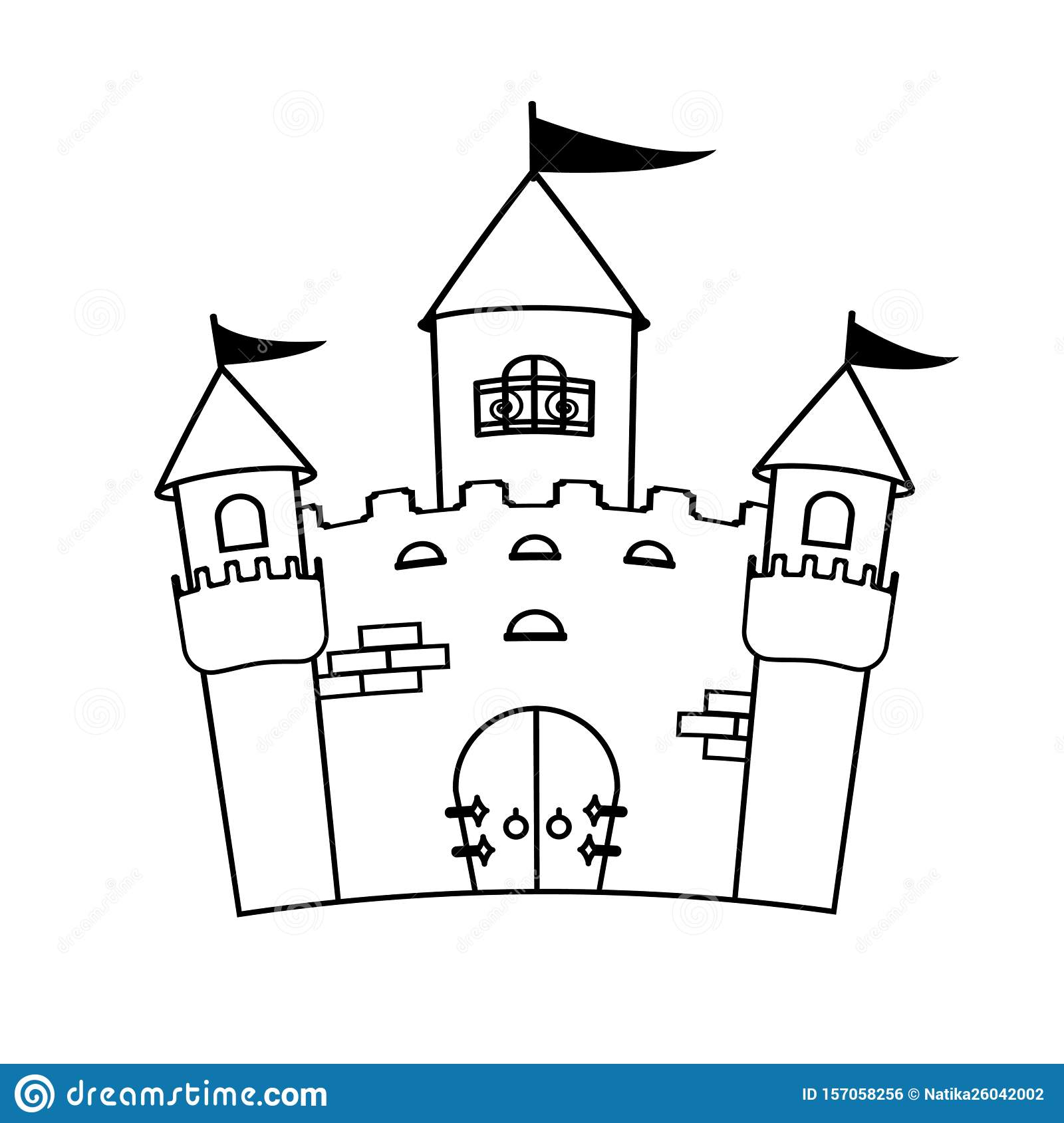 Coloring Page For Book Fairytale Castle Kids Activity