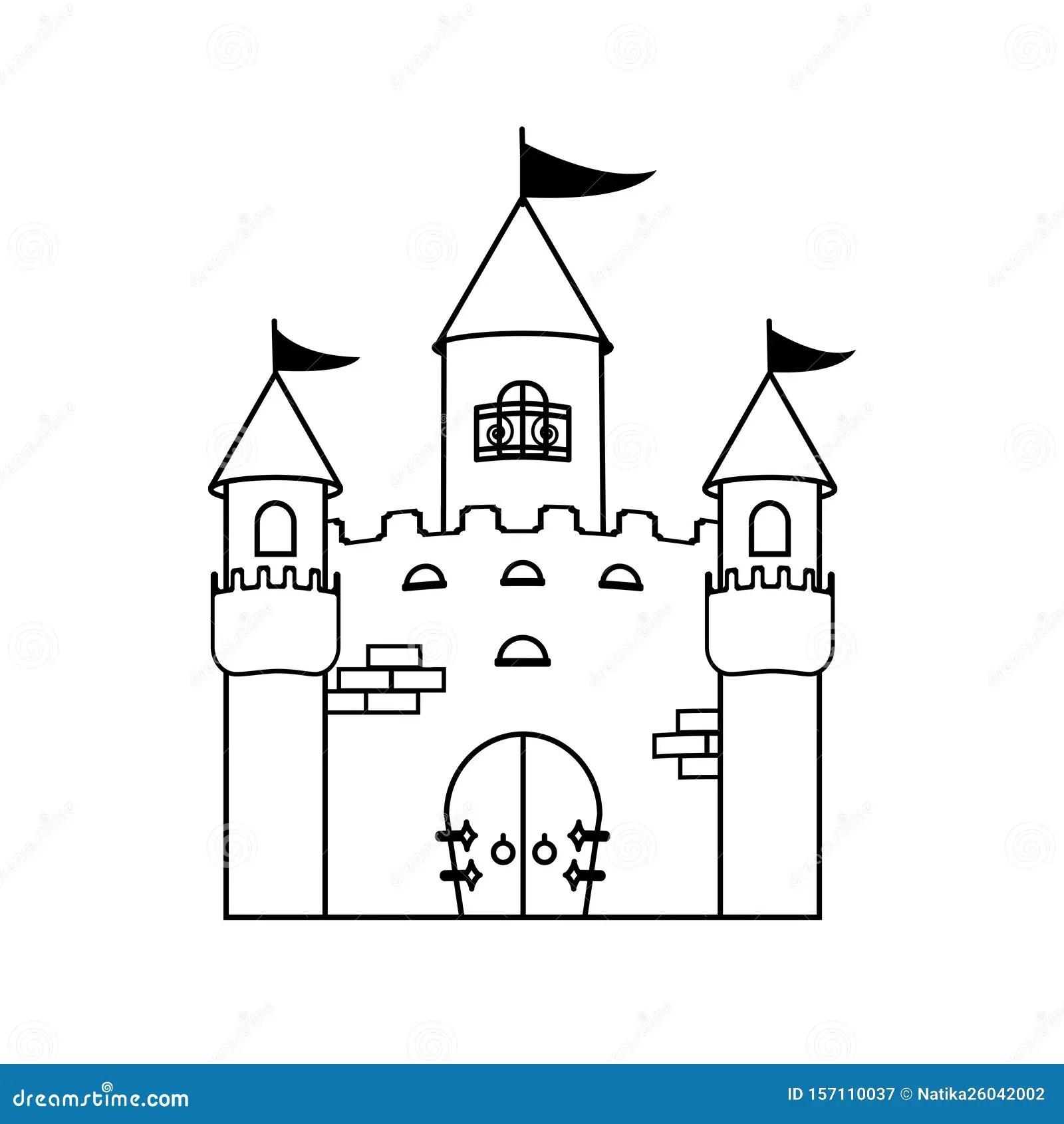 Coloring Book Fairy Princess Castle Children Activity