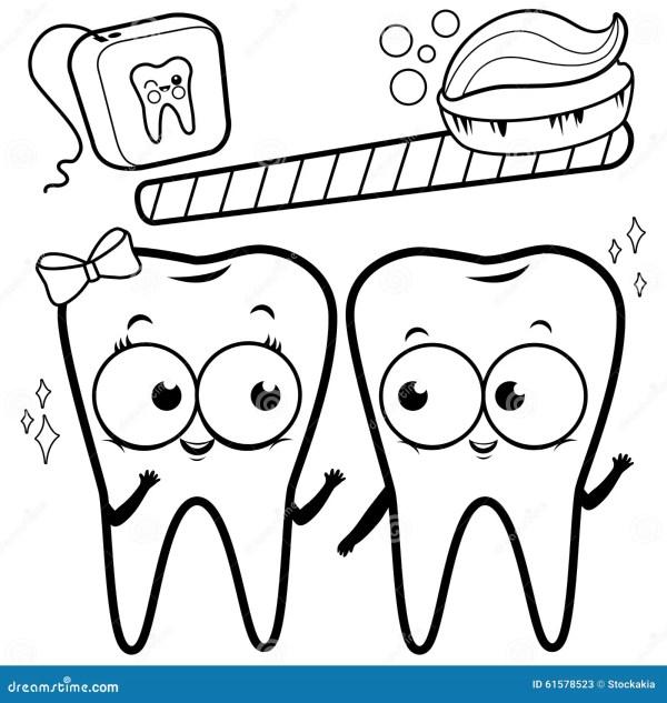 teeth coloring page # 8