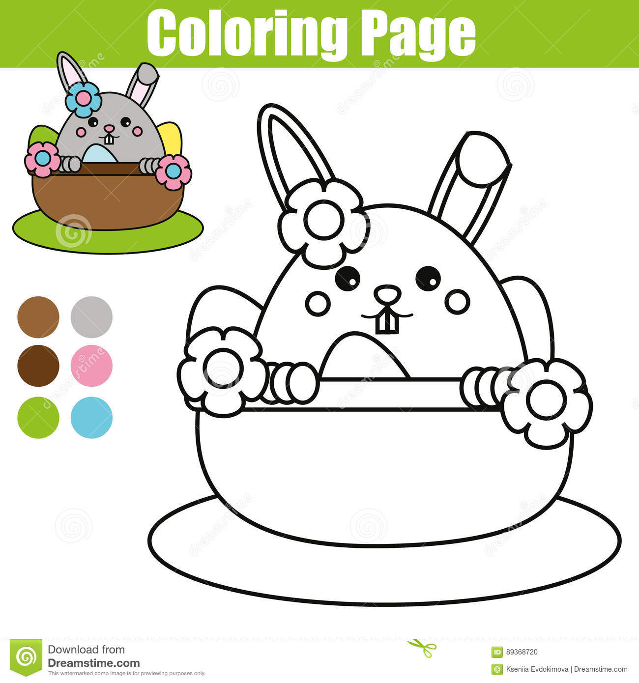 123 Worksheet Easter