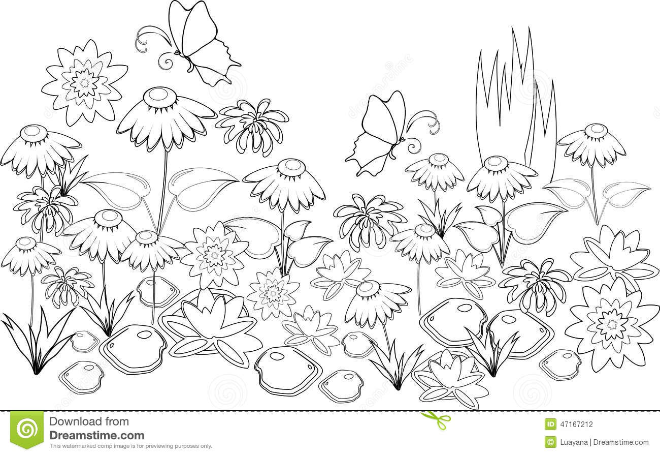 Coloring Page Stock Vector Illustration Of Background