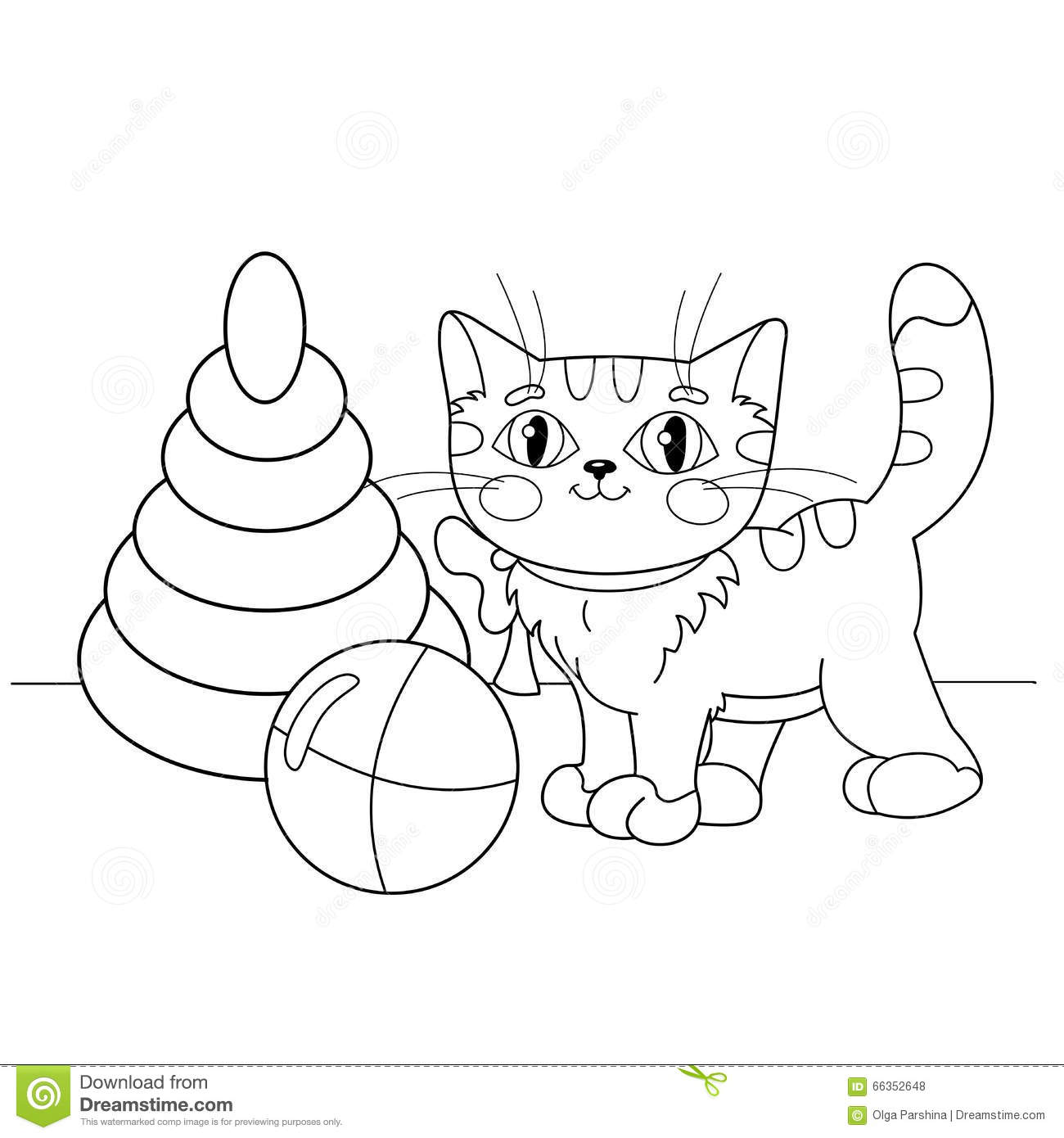 Cartoon Cat Playing