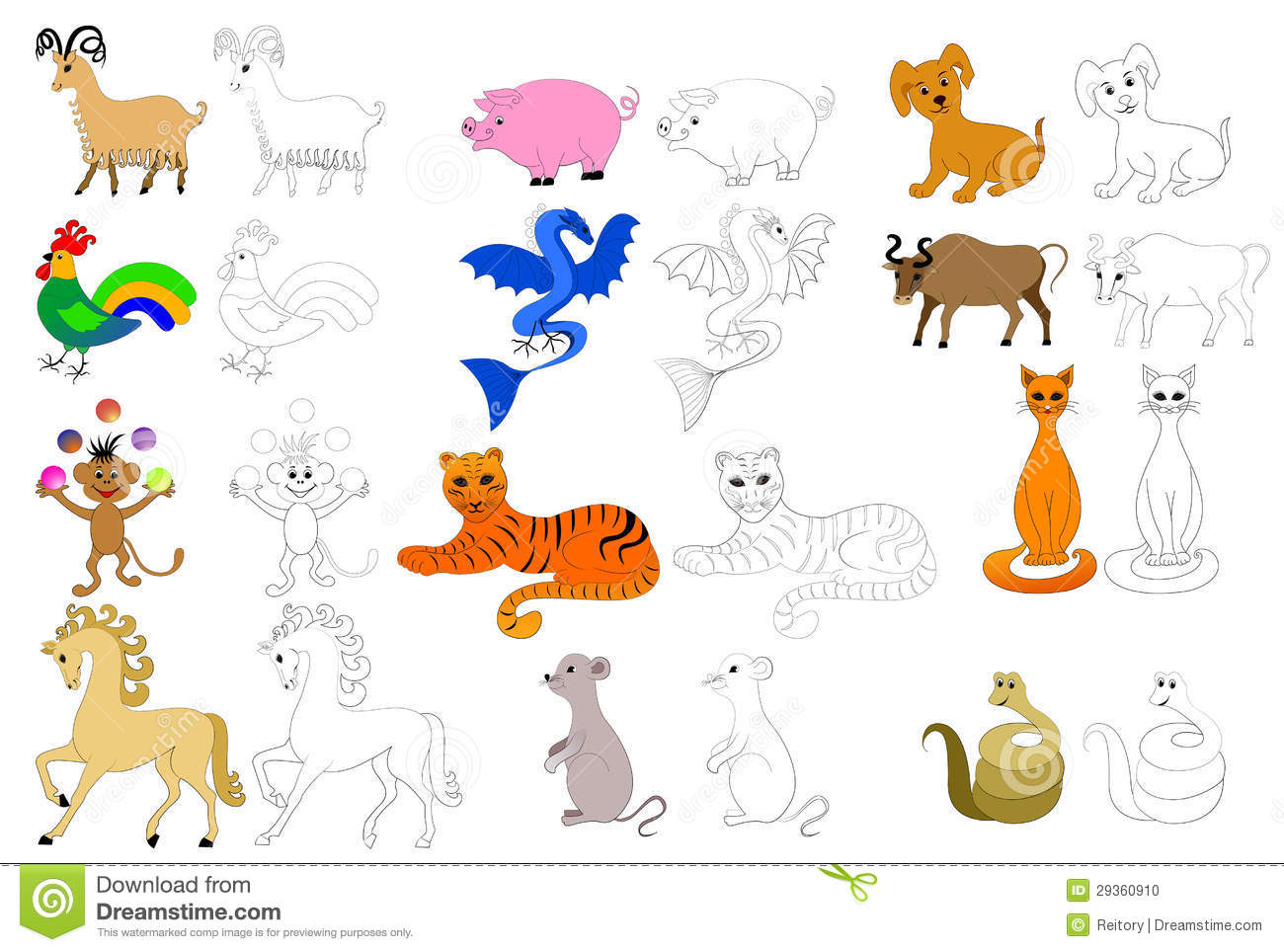 Coloring Pages For Kids Stock Photo