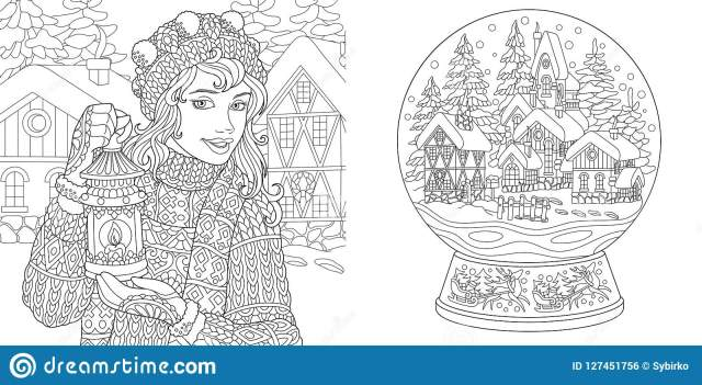 Coloring Snow Stock Illustrations – 12,12 Coloring Snow Stock