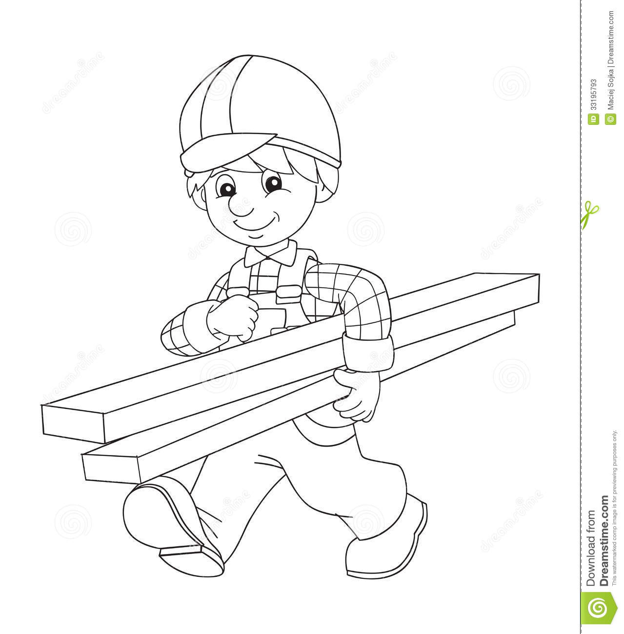 Free Construction Worker Coloring Pages