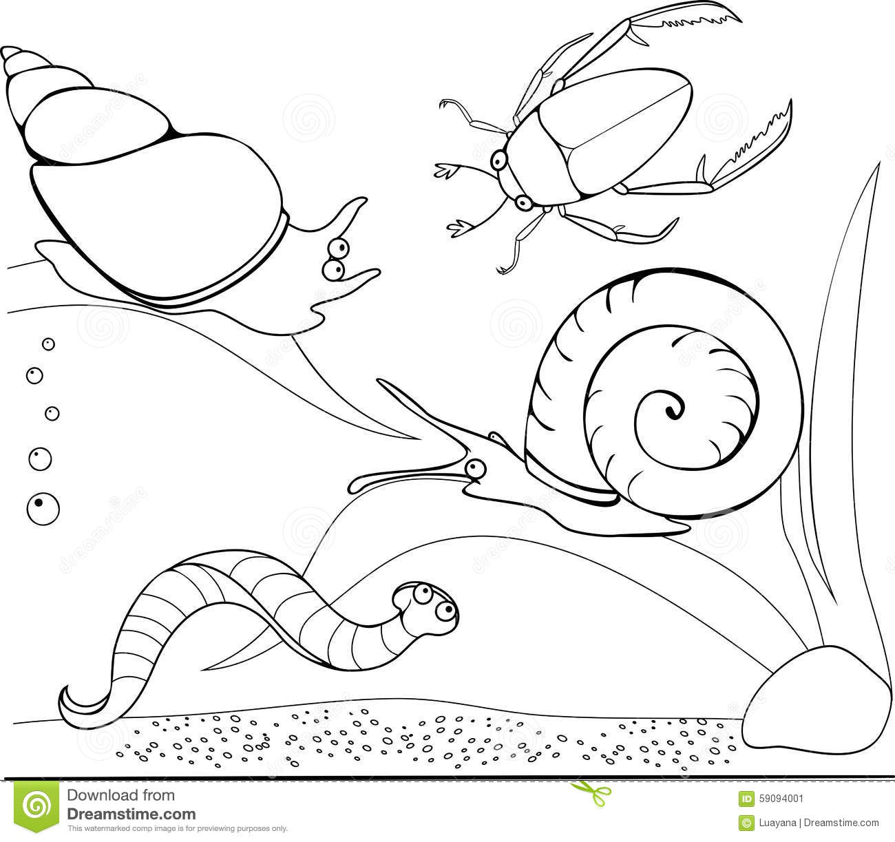 Coloring Pond Stock Vector Illustration Of Entertainment
