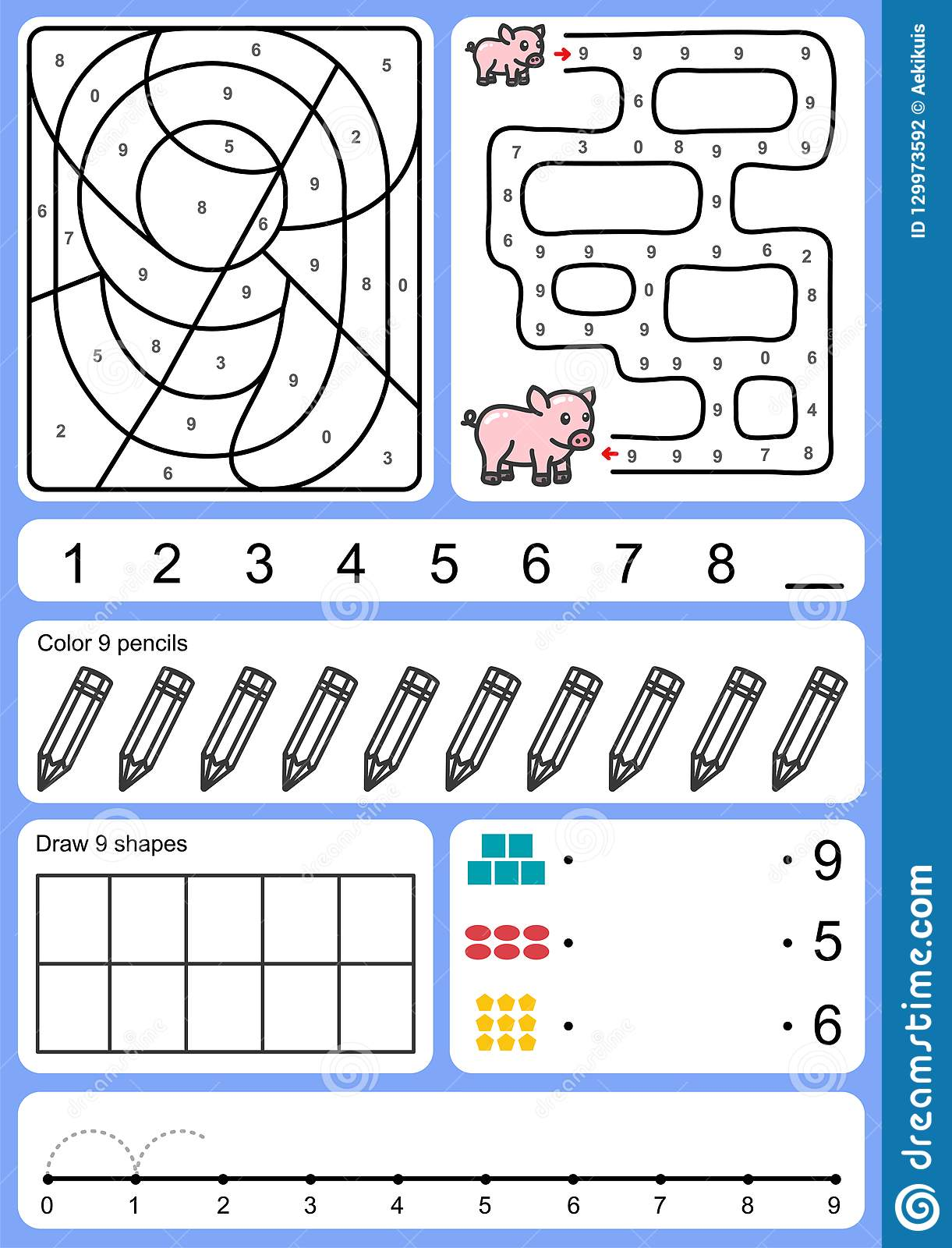 Coloring Tracking Matching And Drawing Object Of Number