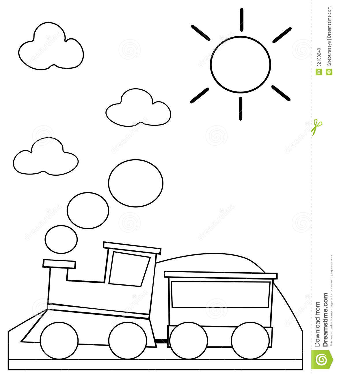 Coloring Train Stock Illustration Image Of Image Colorable