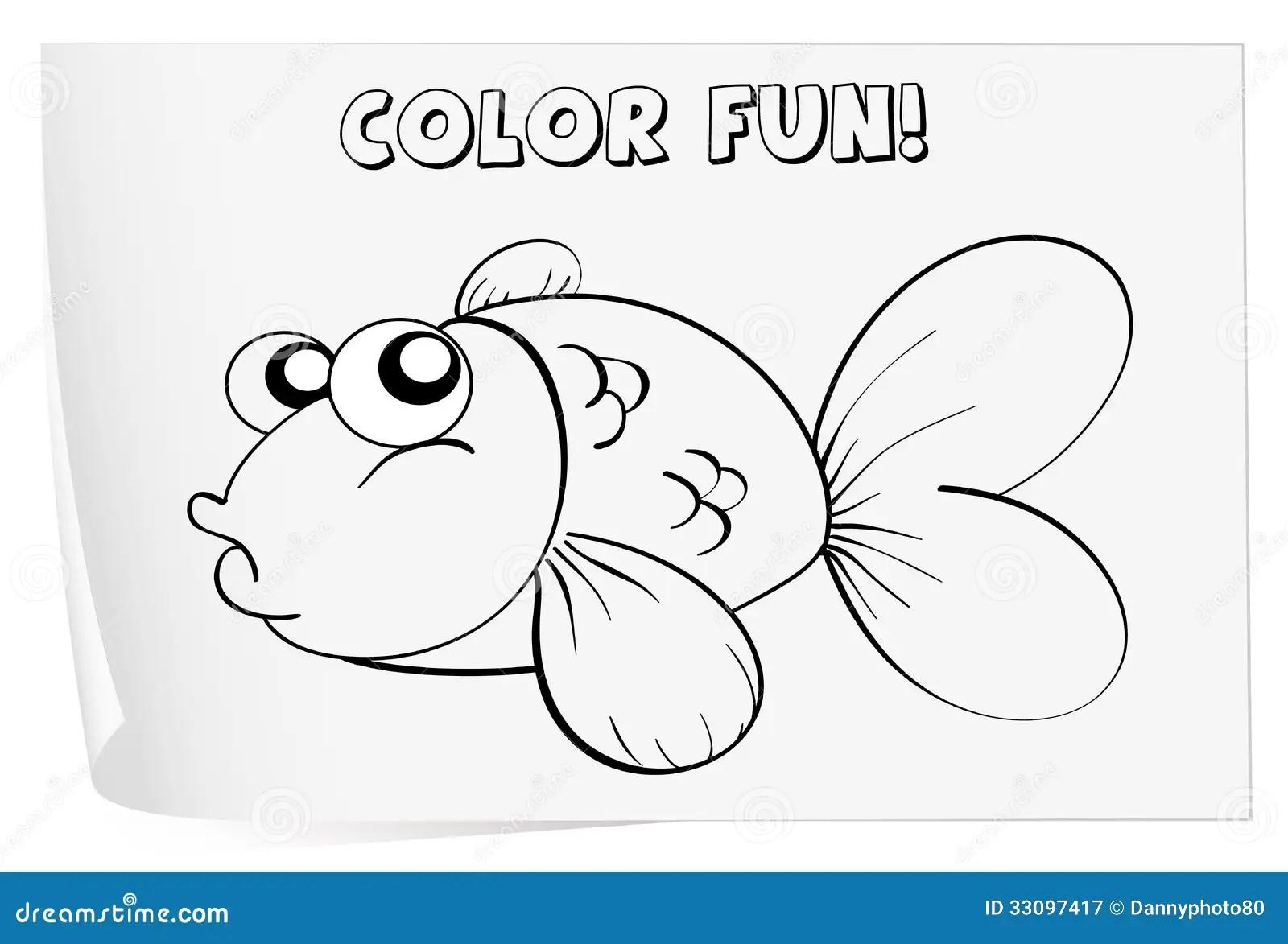 Coloring Worksheet Stock Vector Illustration Of