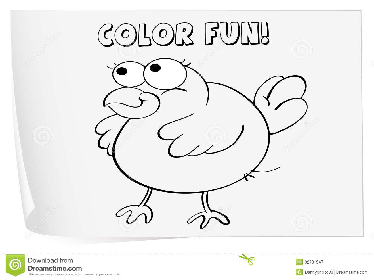 Coloring Worksheet Royalty Free Stock Photography