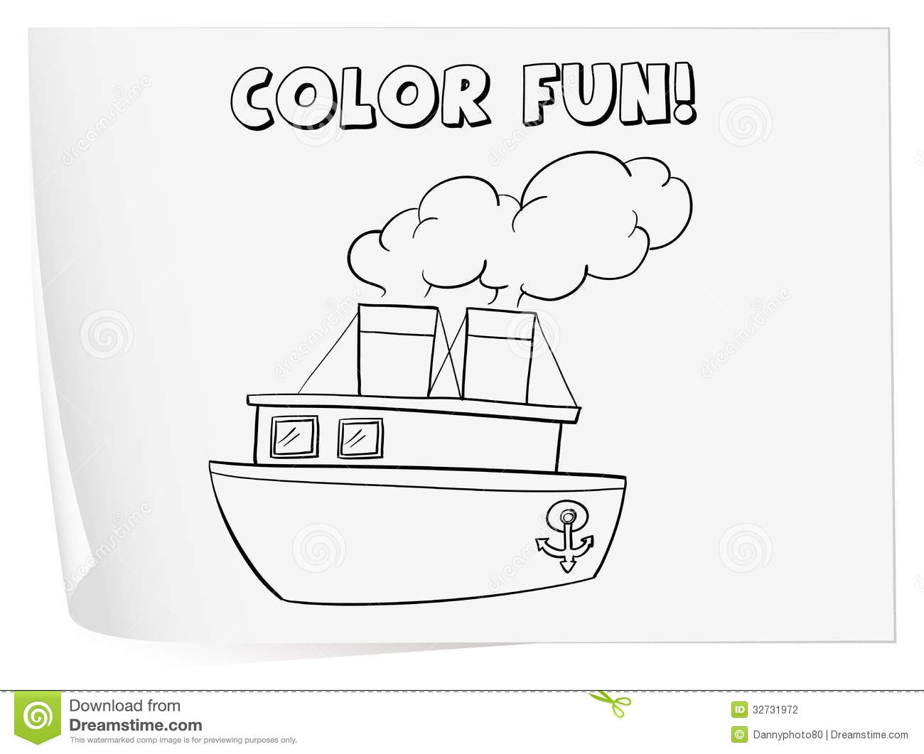 Coloring Worksheet Stock Vector Image Of Schooling Coloring