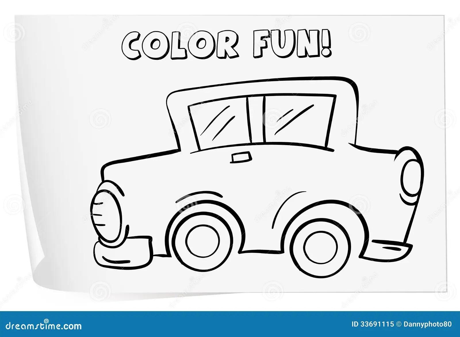 Coloring Worksheet Royalty Free Stock Photo