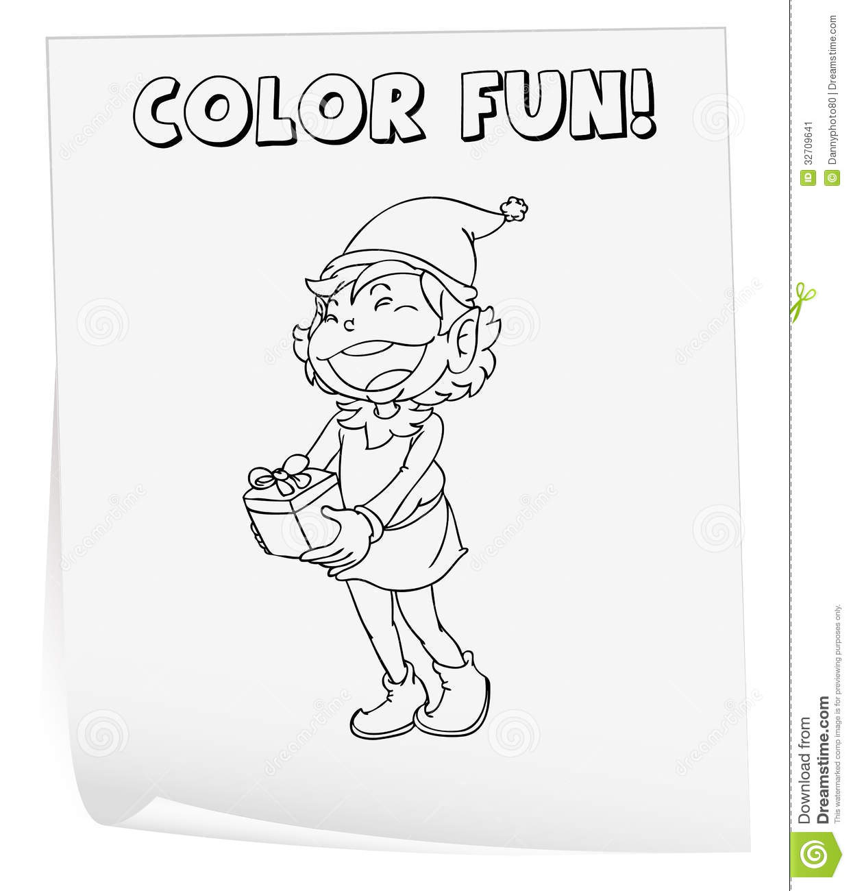 Coloring Worksheet Stock Vector Illustration Of Learning