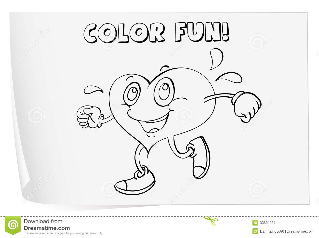 Coloring Worksheet Stock Image