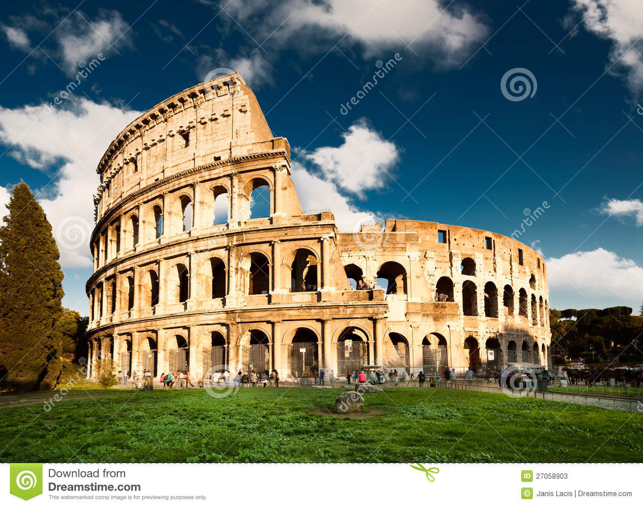 Map Ancient City Rome Empire