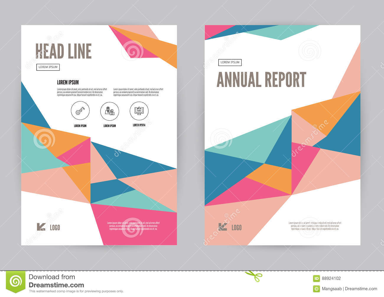 Colourful Annual Report Leaflet Brochure Flyer Template A4