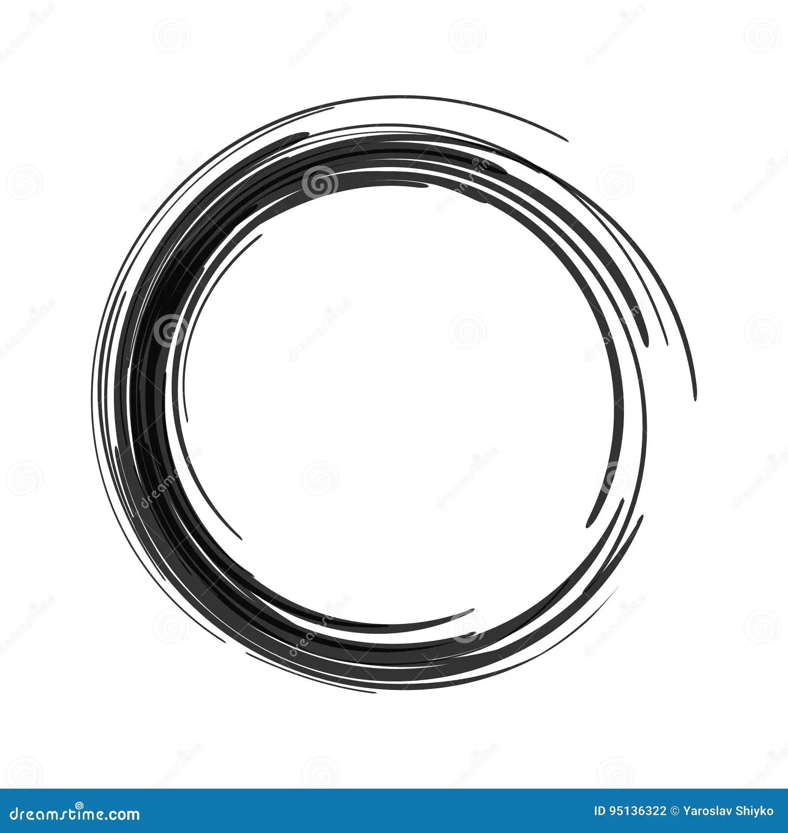 Colpo Nero Del Cerchio Del Pennello Di Vettore Cerchio