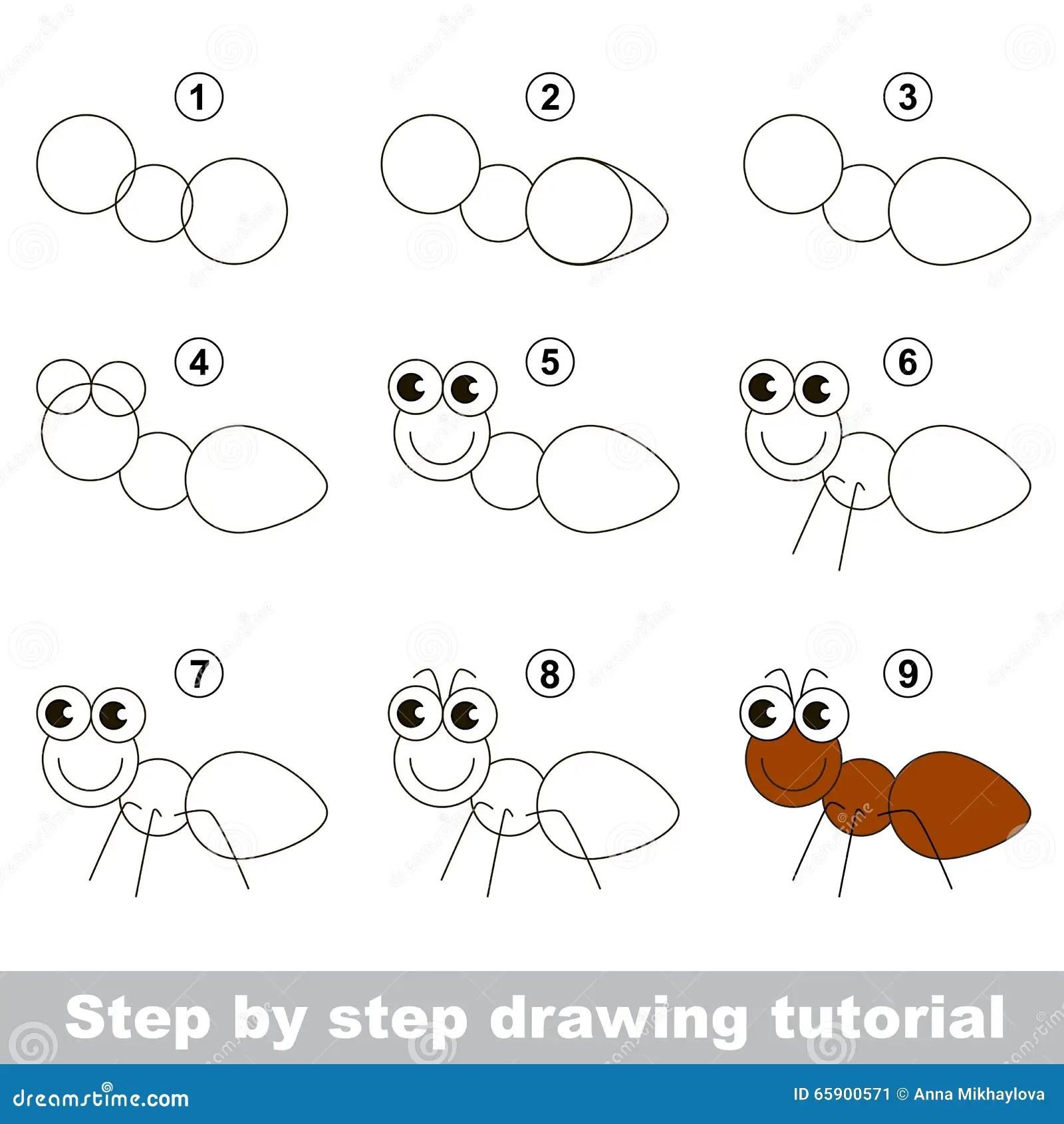 Come Disegnare Una Formica Illustrazione Vettoriale