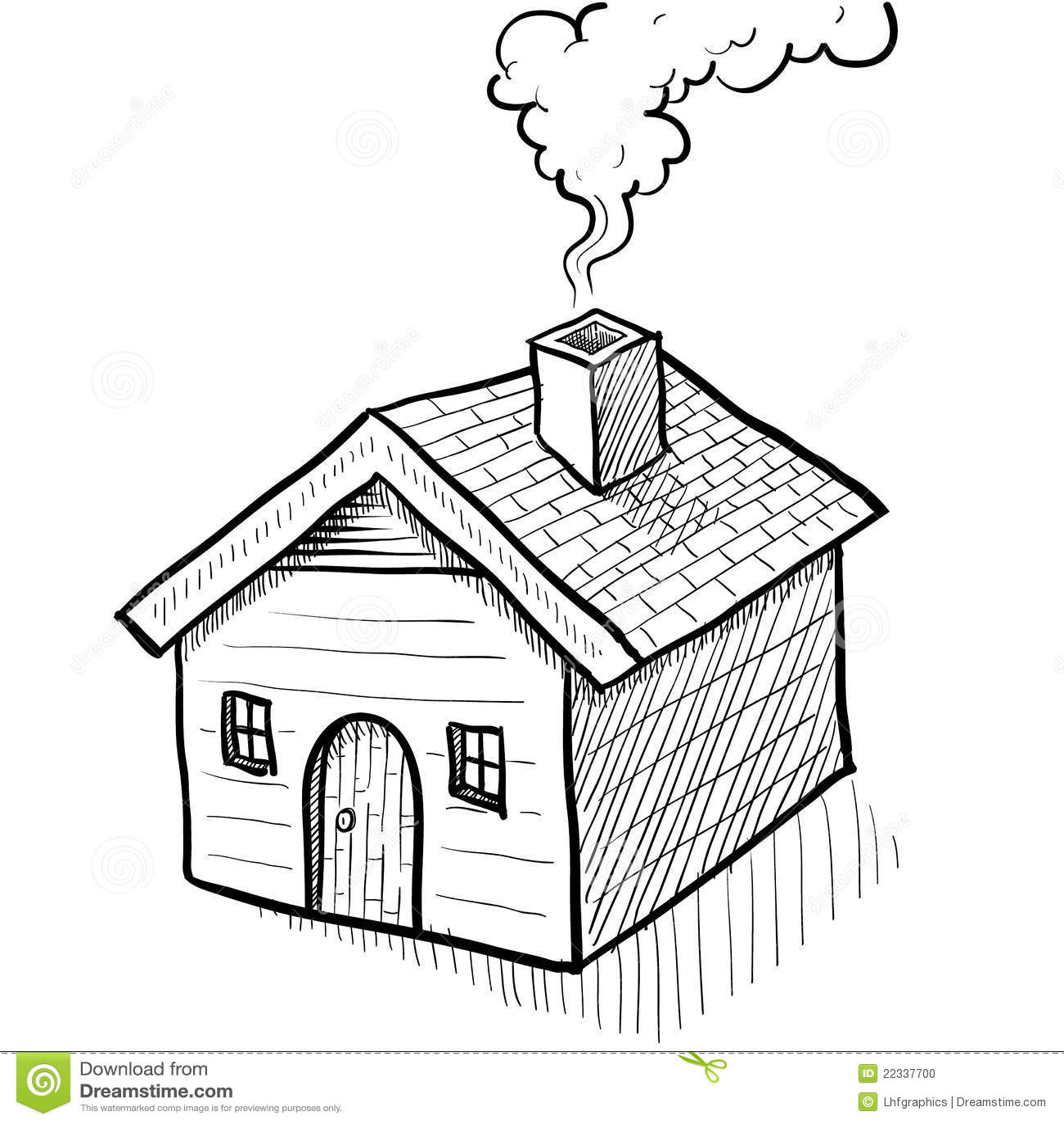 Comfy House Sketch Stock Photo