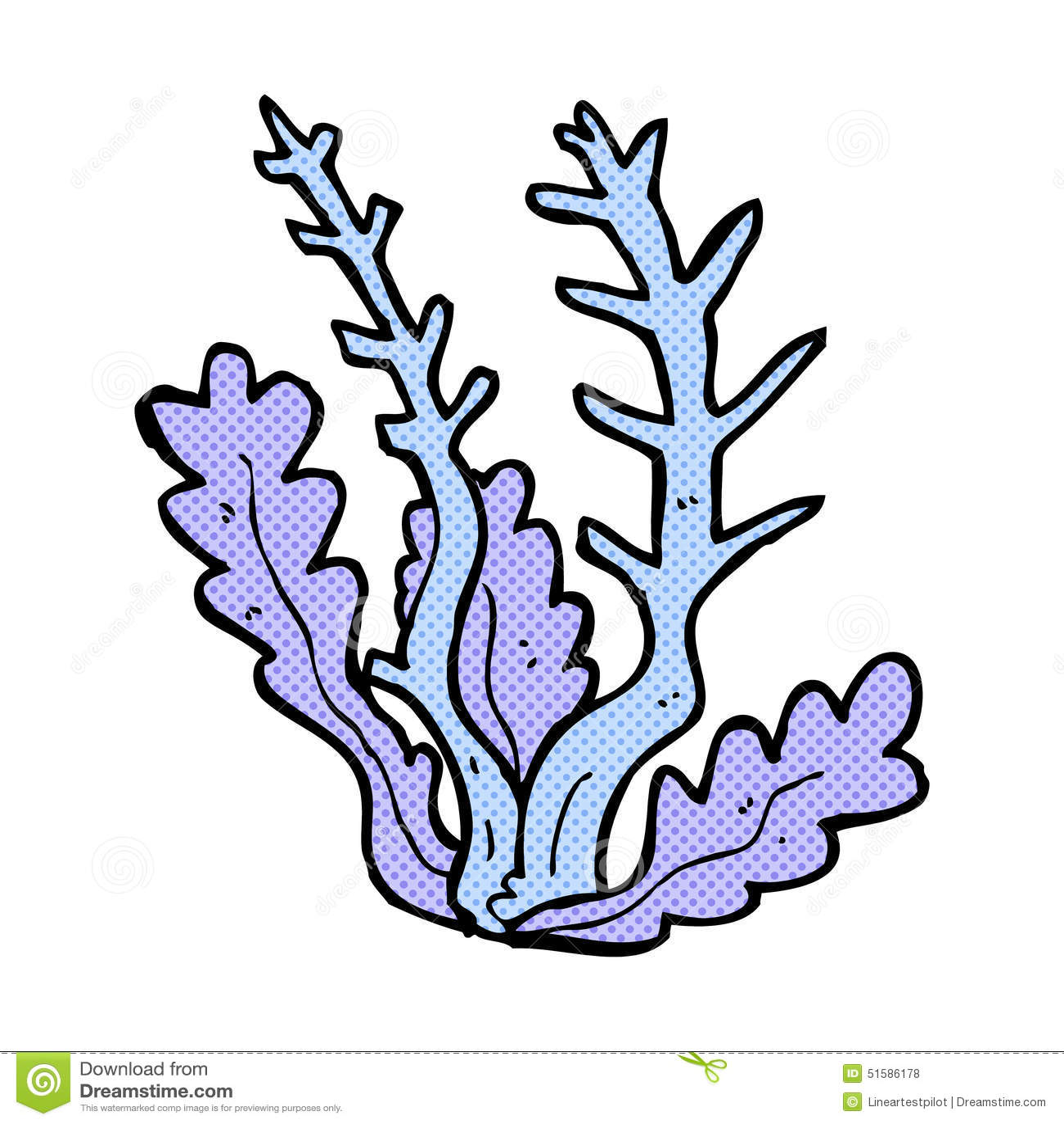 Comic Cartoon Seaweed Stock Illustration Illustration Of