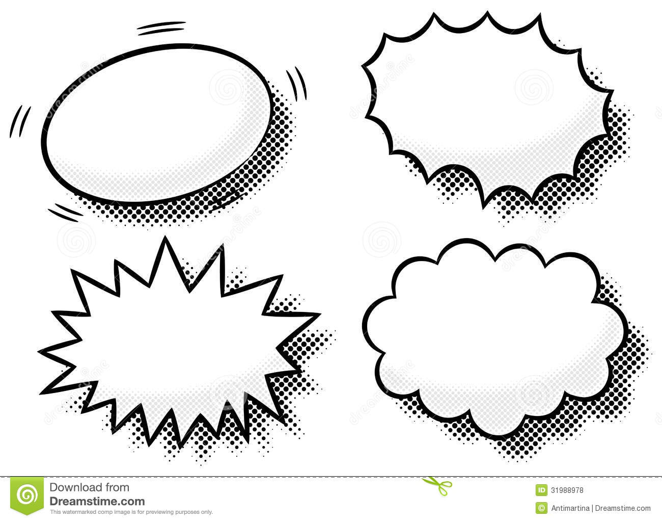 Comic Effect Bubbles Stock Vector Illustration Of Element