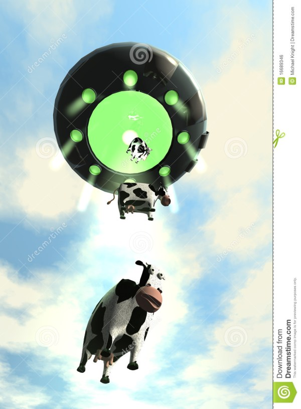 Comical Cow Abduction 2 Royalty Free Stock Image Image