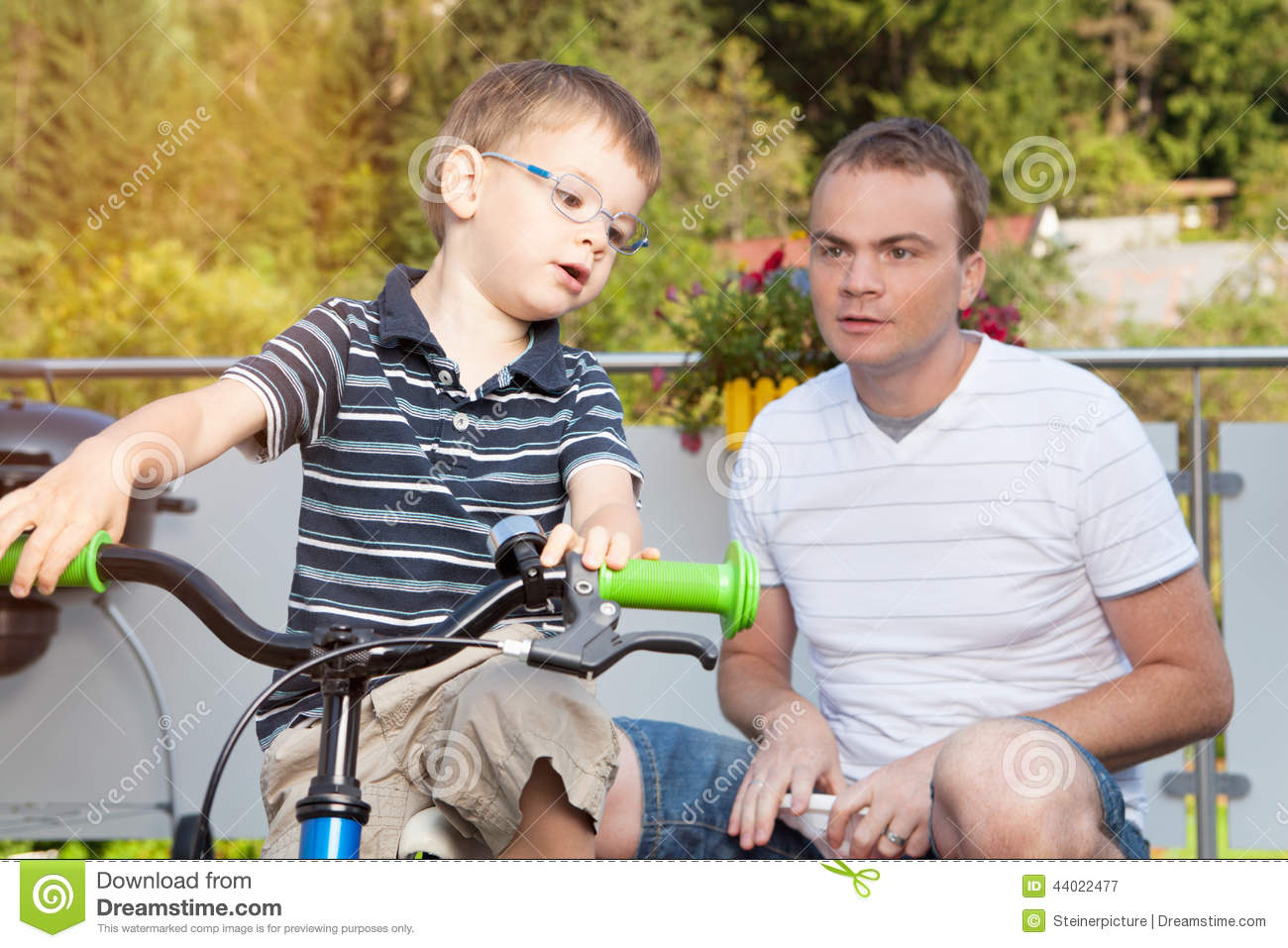 Communication Father And Son Stock Image