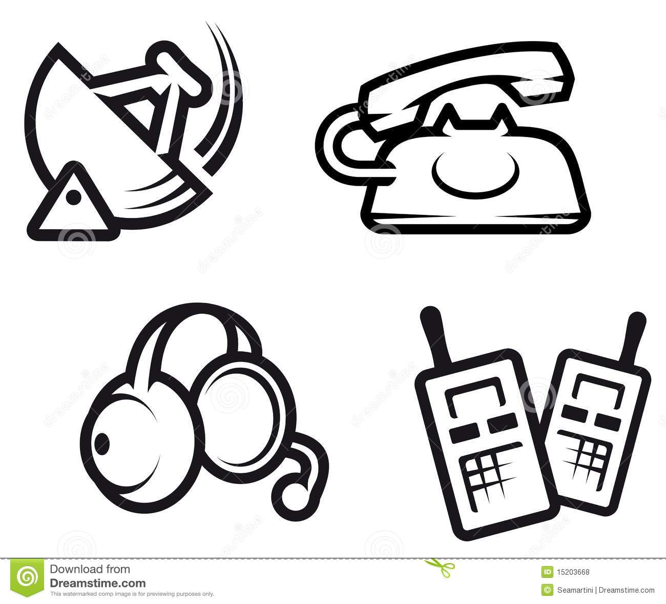 Communication Symbols Stock Vector Image Of Icon