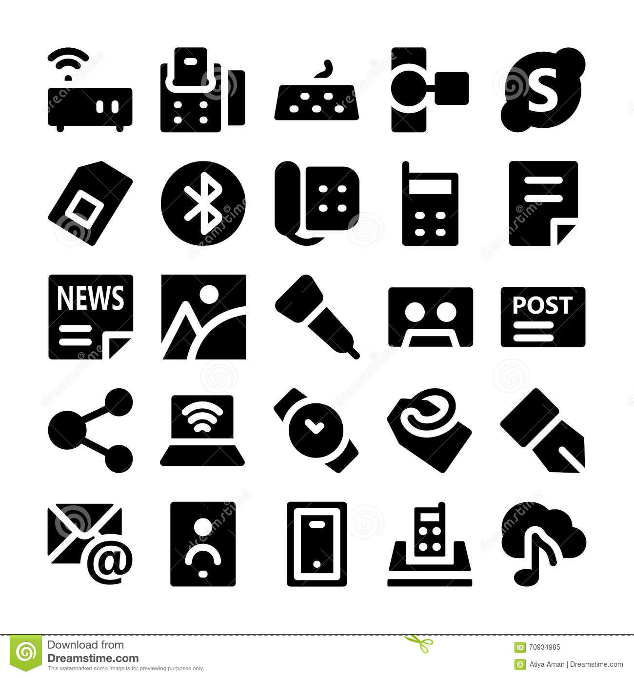 Communication Vector Icons 8 Stock Image