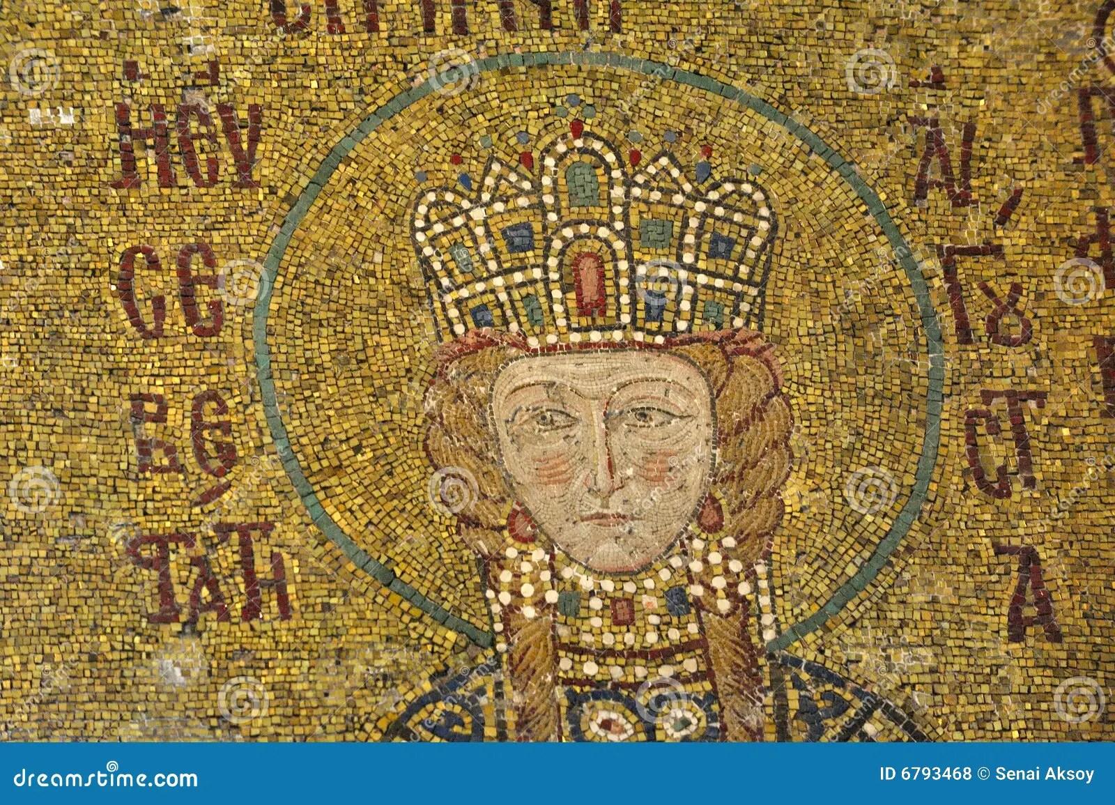 The Comnenus Mosaics Hagia Sophia Istanbul Royalty Free