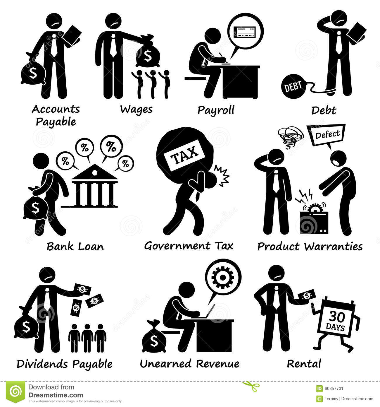 Company Business Liability Pictogram Clipart Stock Vector