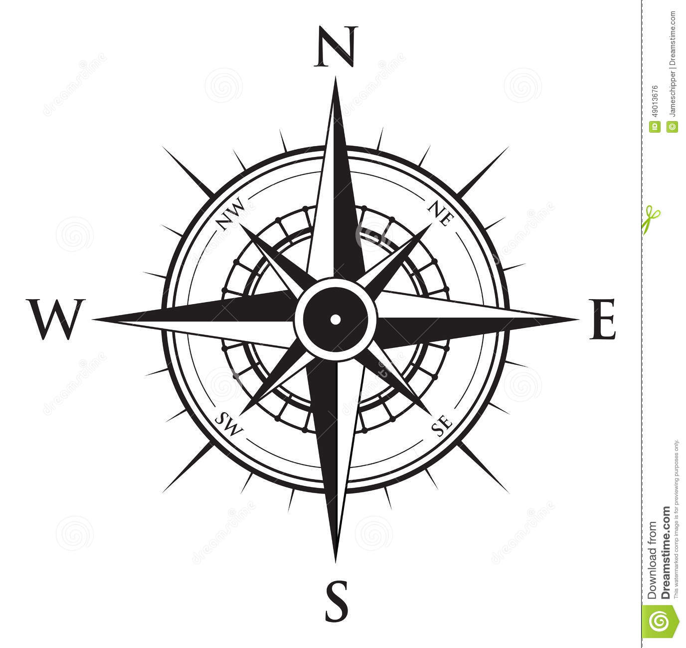 Compass Background Stock Vector Illustration Of Button