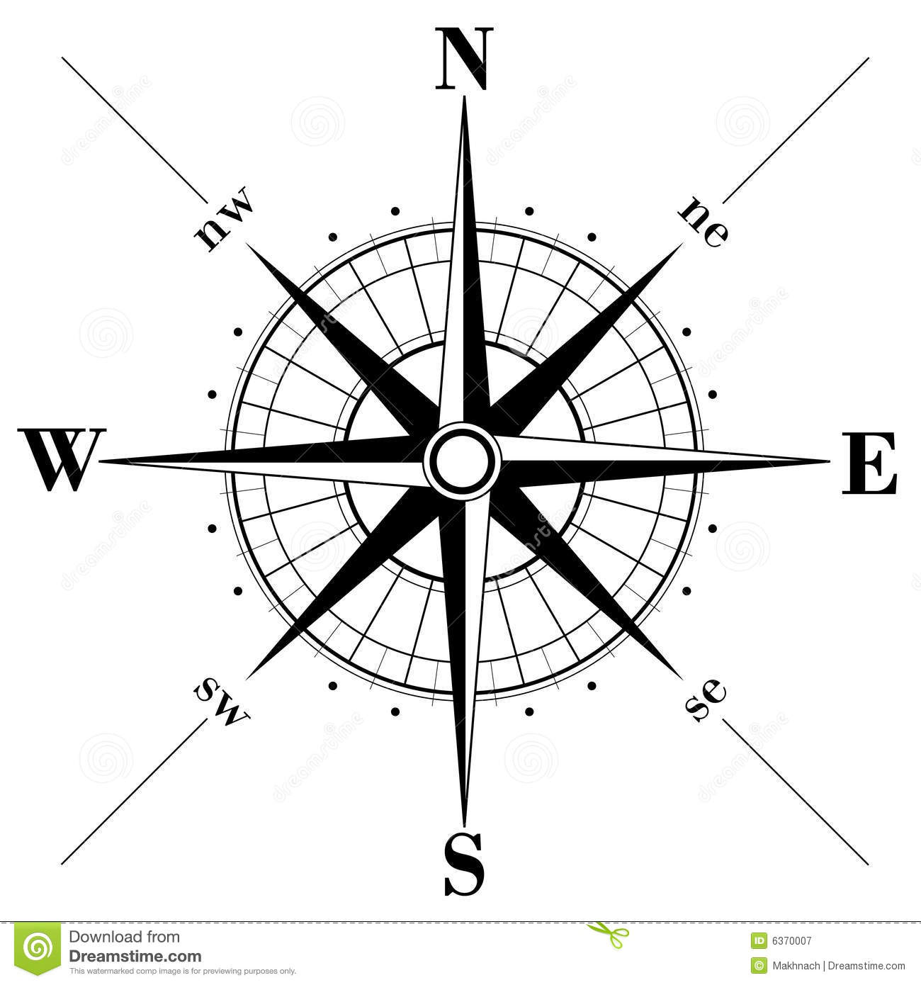 Compass Rose Stock Vector Illustration Of Cartography