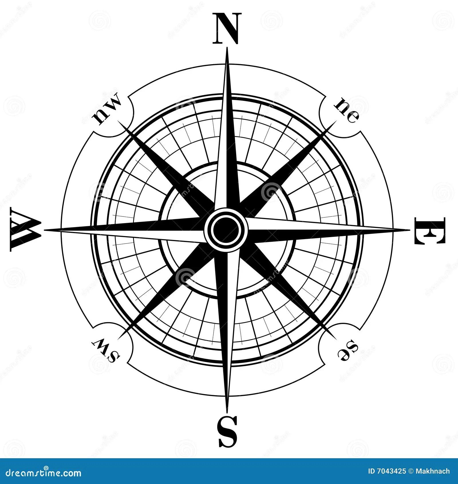 Compass Rose Stock Vector Illustration Of Adventure