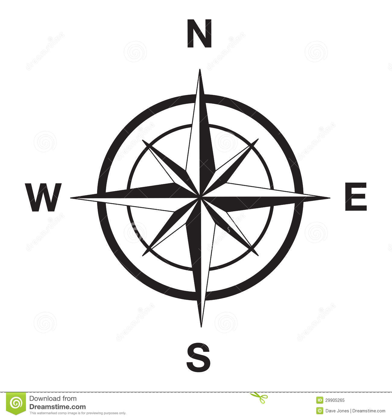 Compass Silhouette In Black Royalty Free Stock Photo