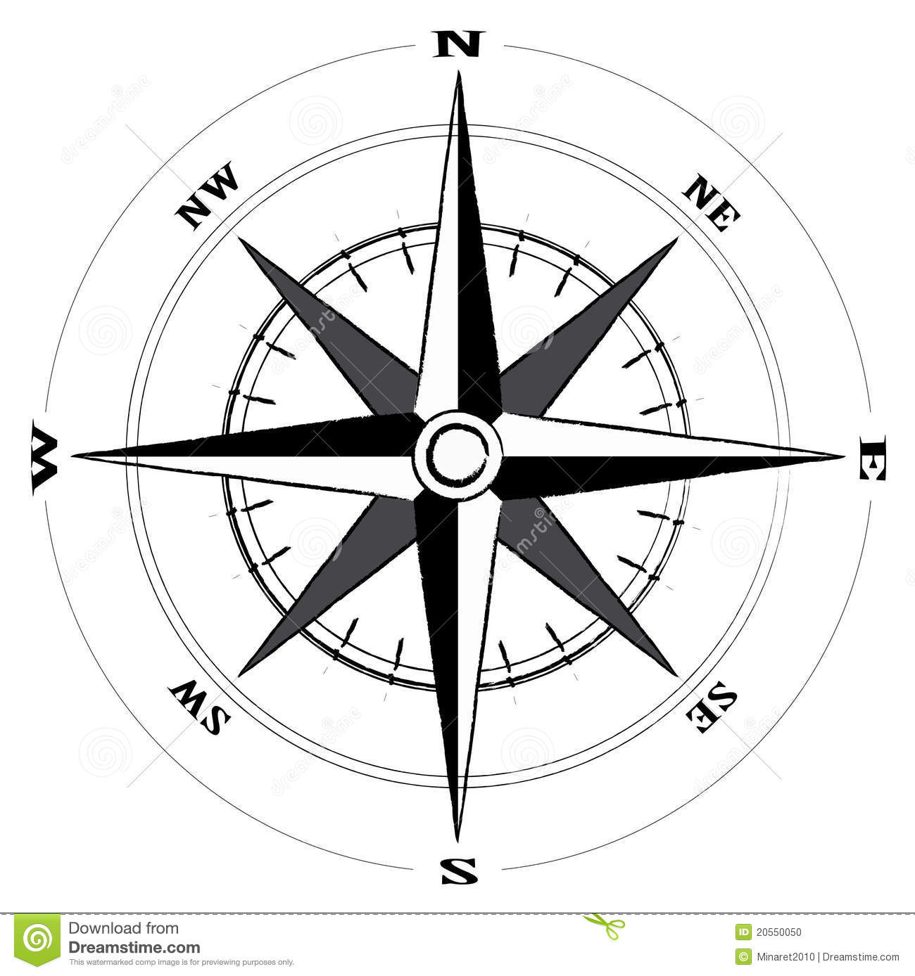 Compass Wind Rose Stock Vector Illustration Of Geography