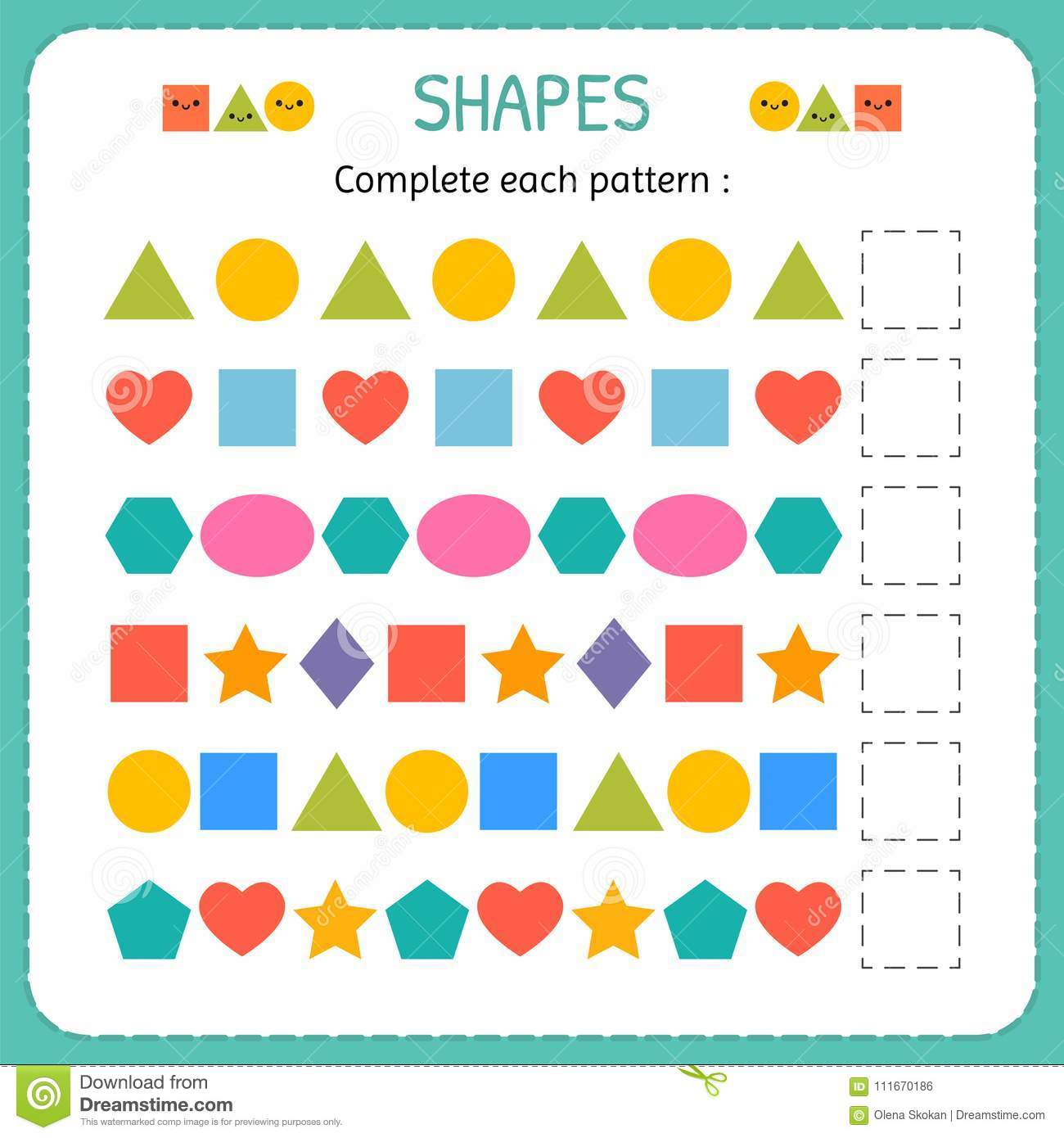 Matching Shapes Worksheet Ch