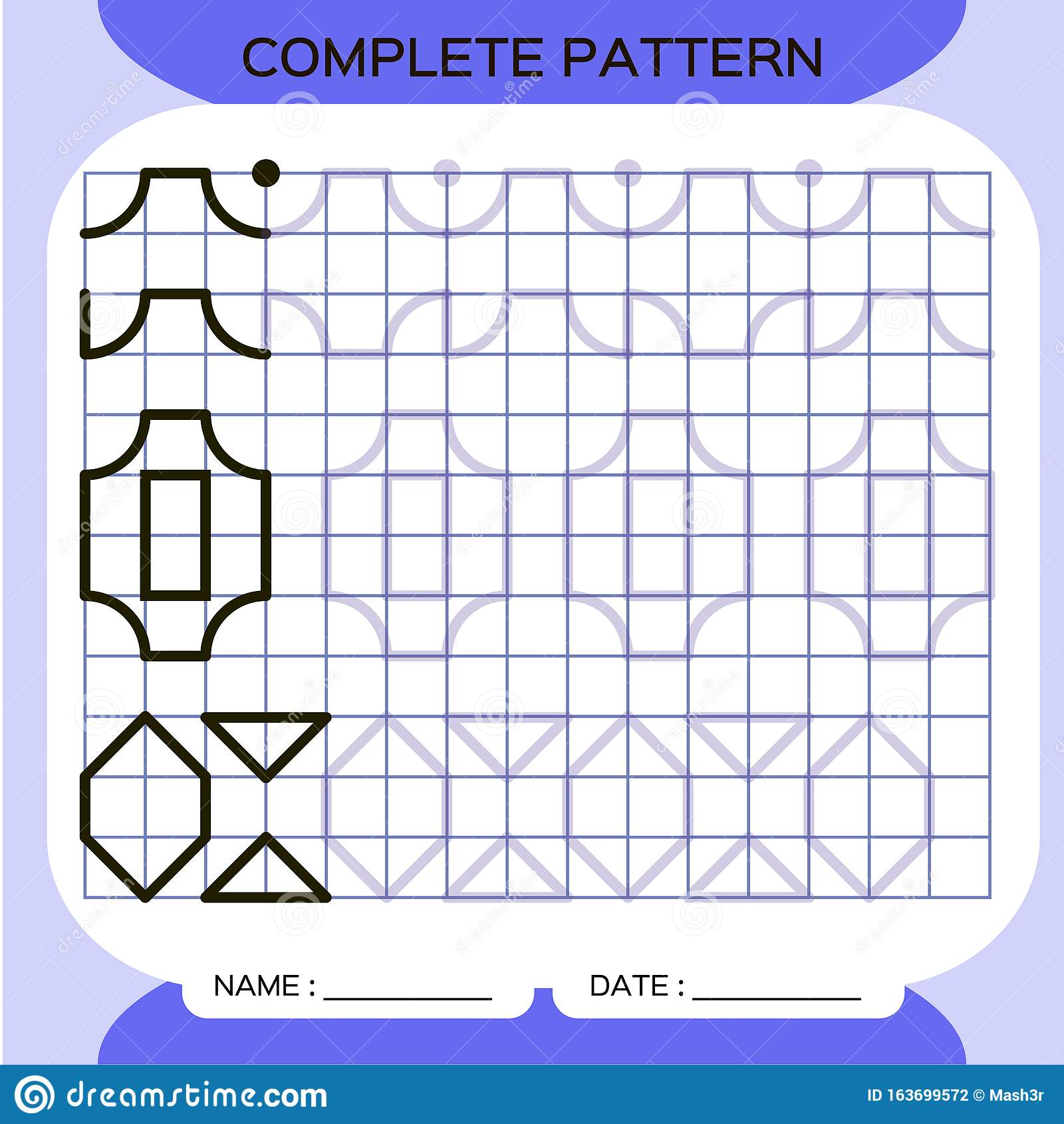 Complete Pattern Tracing Lines Activity For Early Years