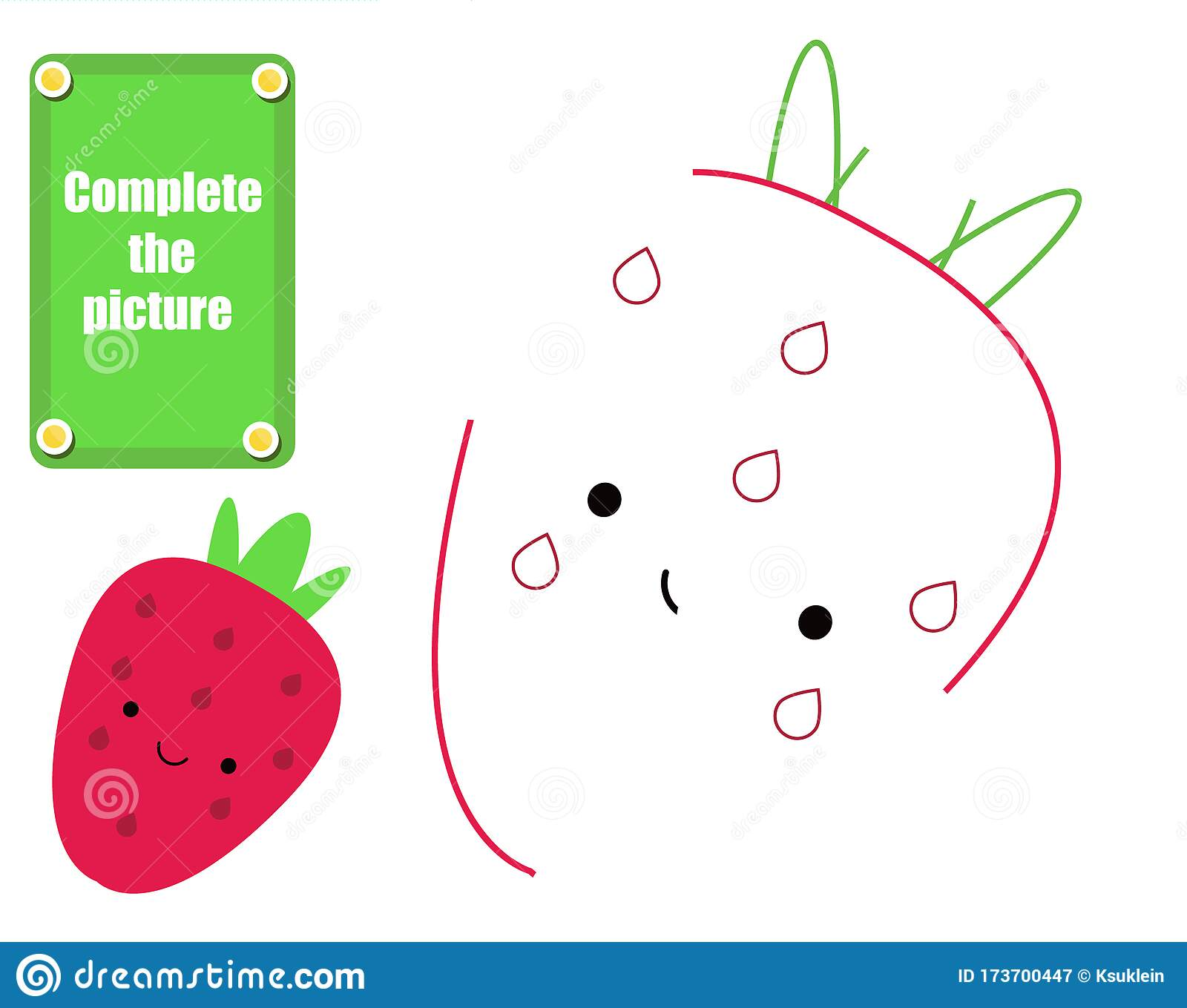 Complete Picture Educational Children Game Draw