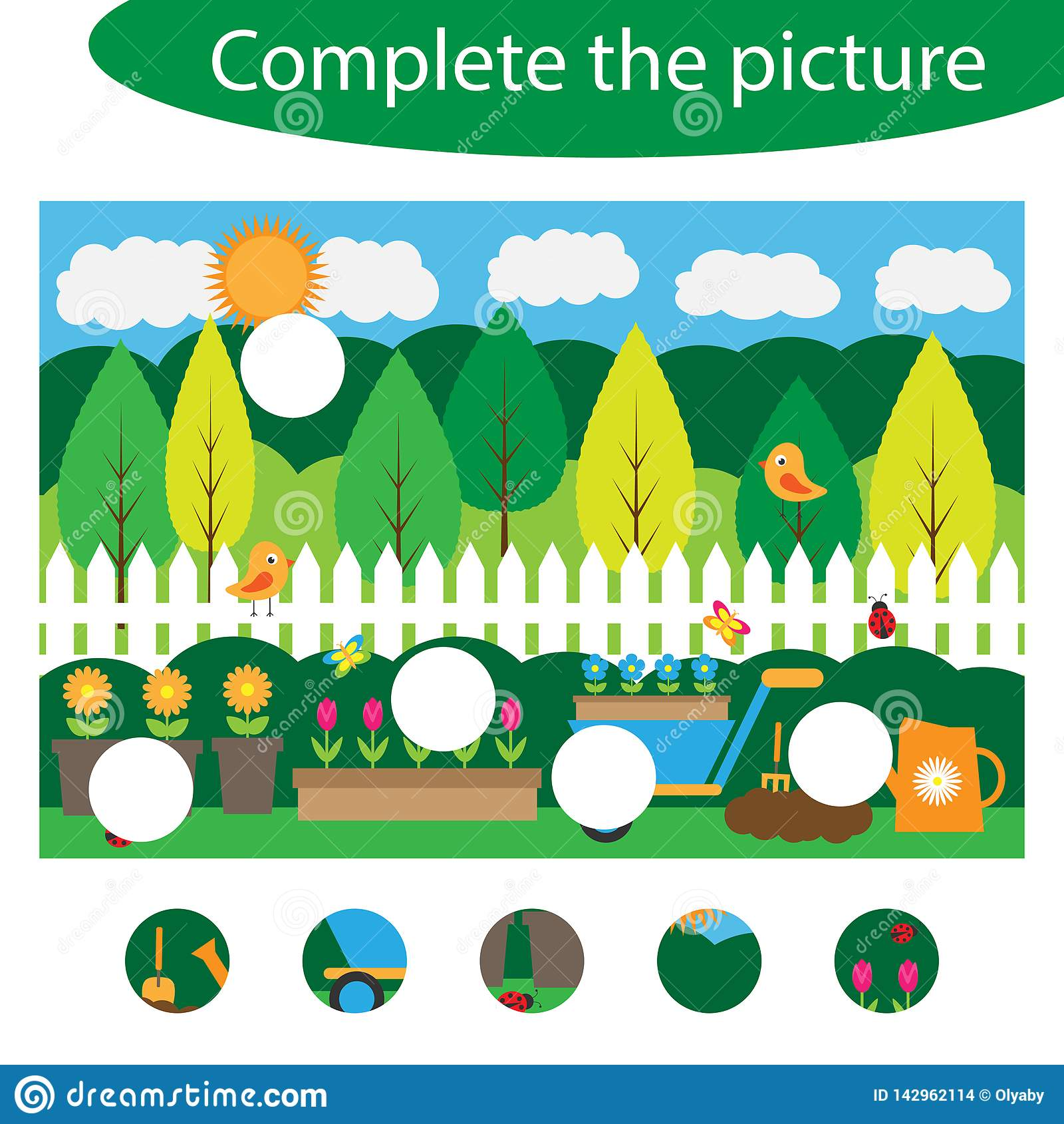 Complete The Puzzle And Find The Missing Parts Of The