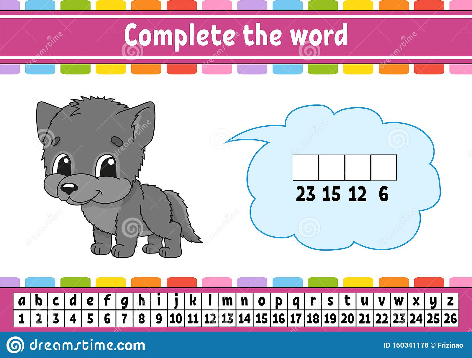 Complete The Words Cipher Code Learning Vocabulary And