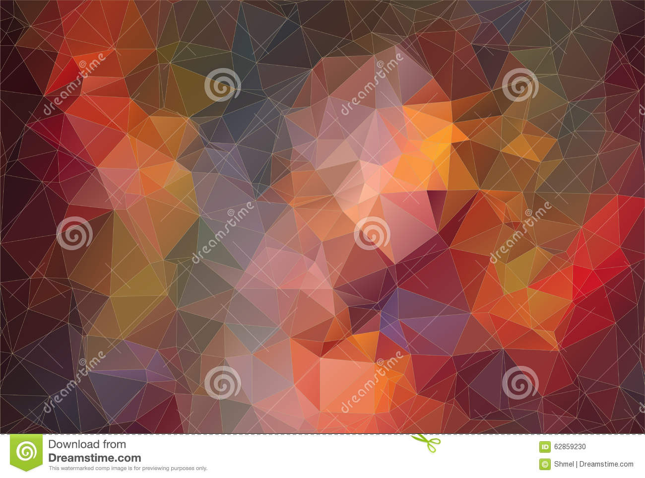 Composition With Triangles Geometric Shapes Stock Vector