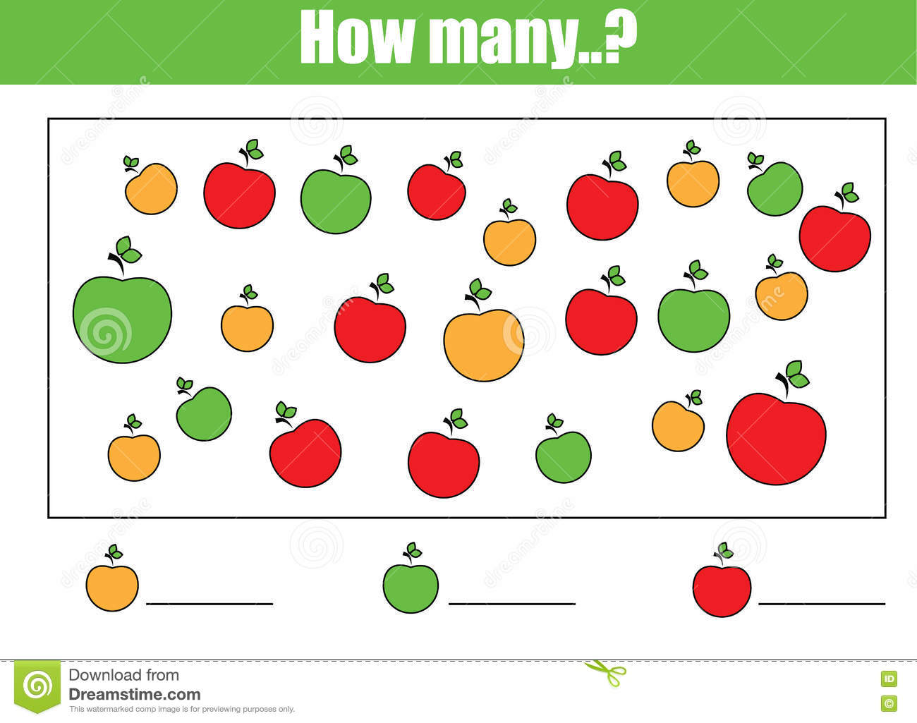 20 Kindergarten Counting Objects Worksheet