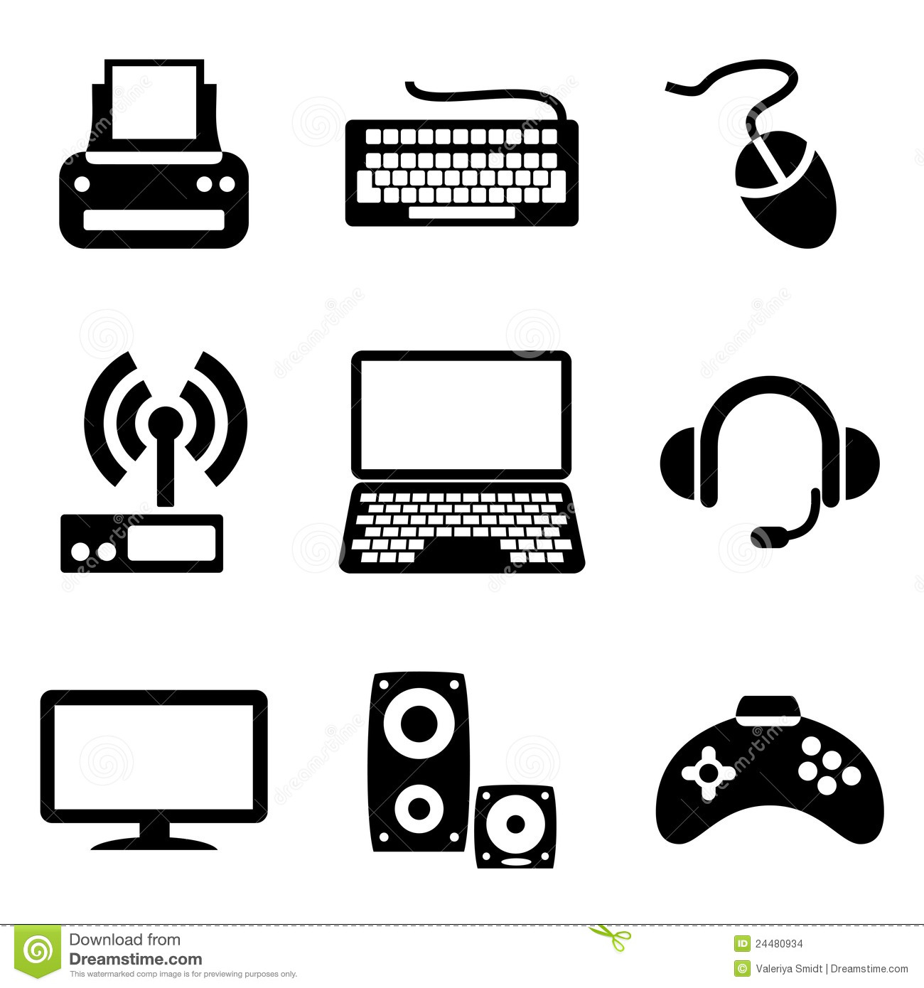 Computer Devices Icons Stock Vector Illustration Of Icons