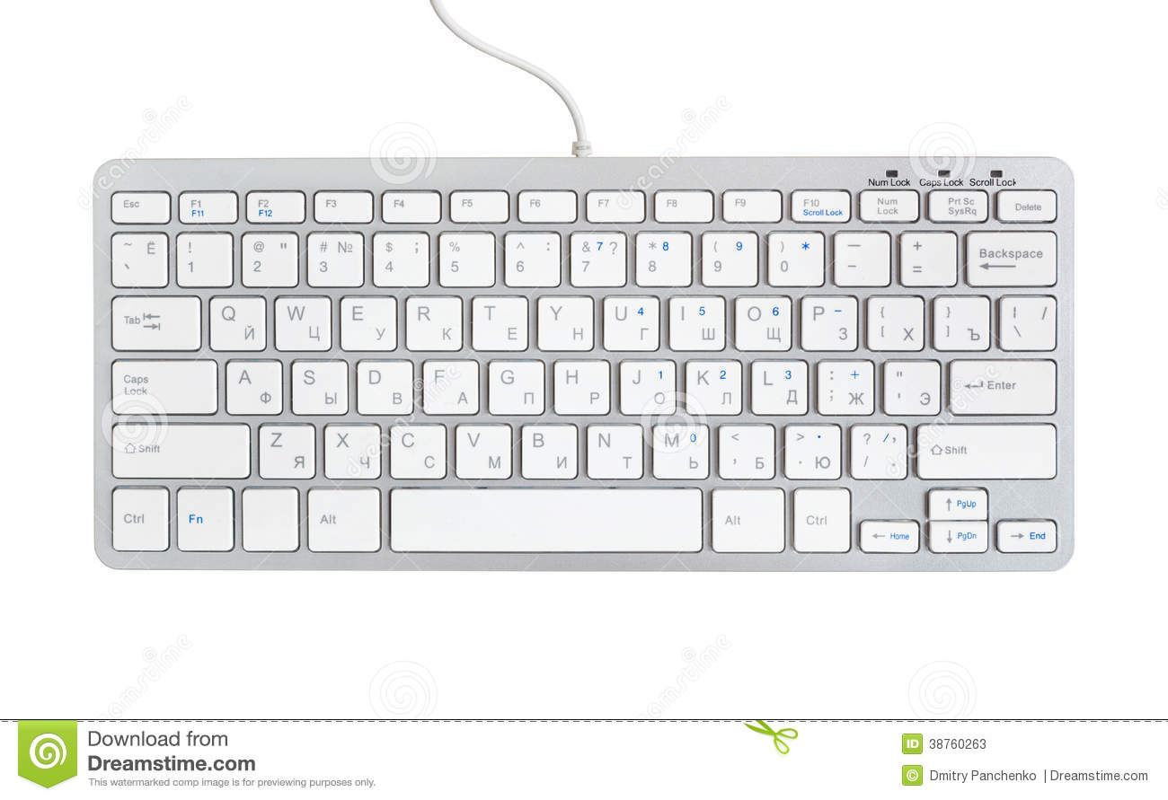 Computer Keyboard Isolated On Stock Photos