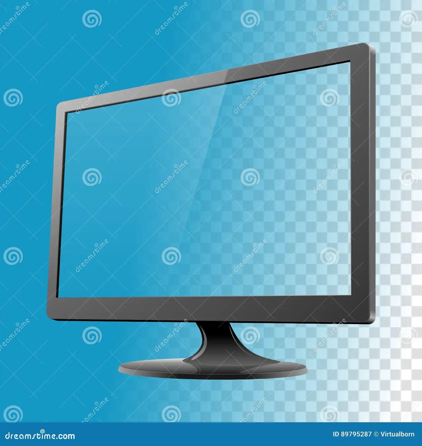 Computer Monitor Mockup Vector Illustration Stock Vector