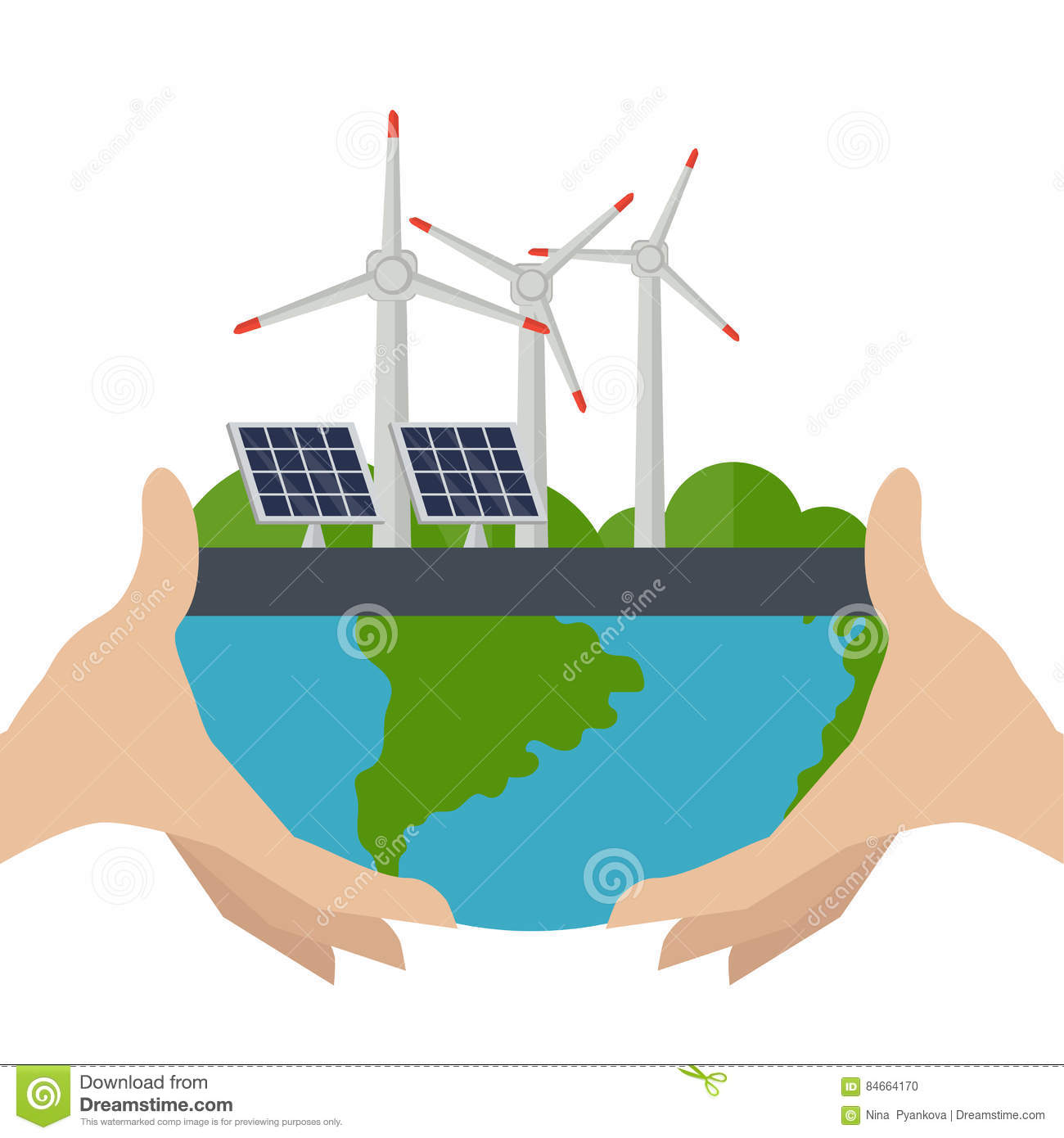 Concept Of Alternative Energy Sources Stock Vector
