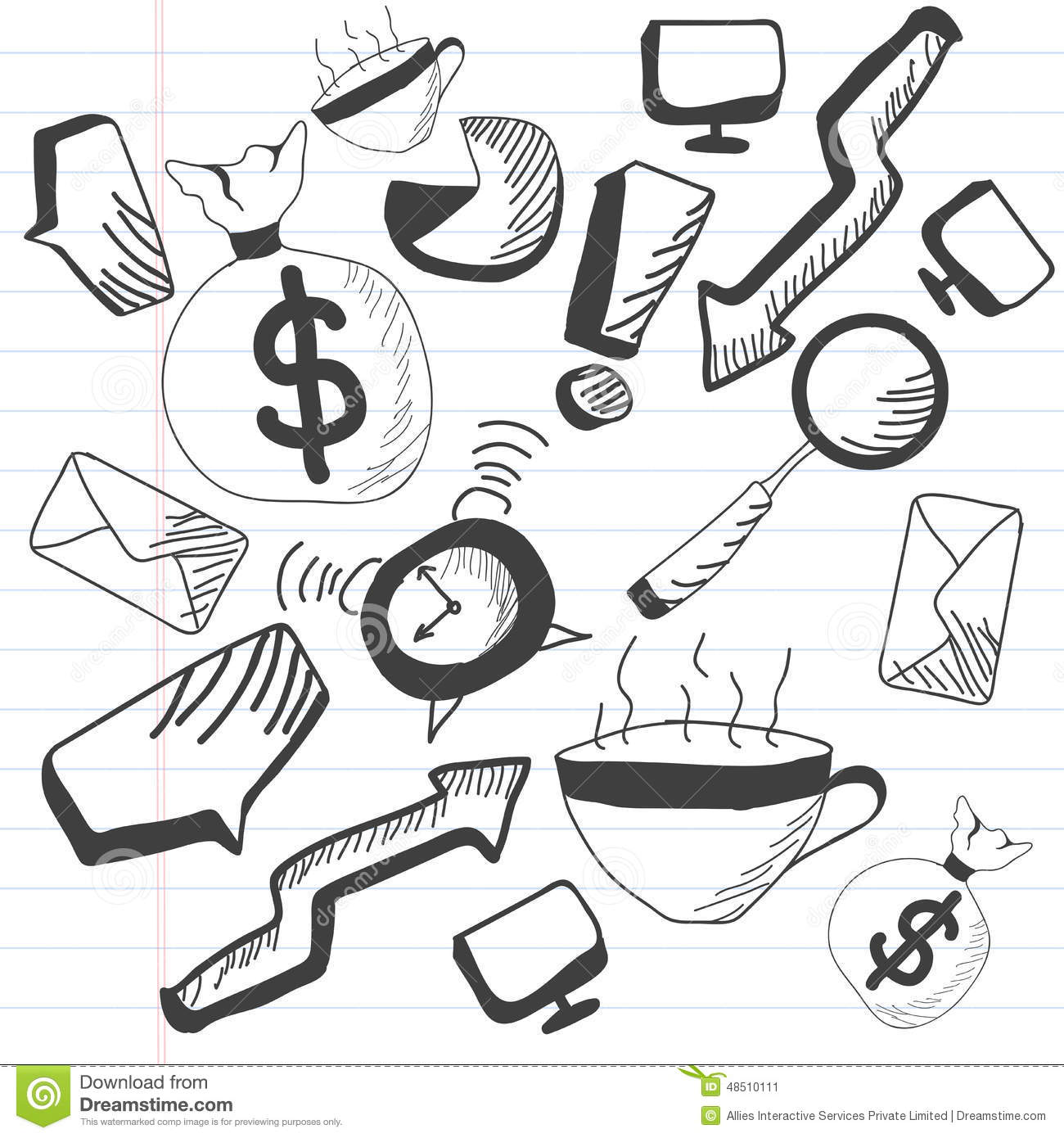 Concept Of Business Doodles Stock Illustration