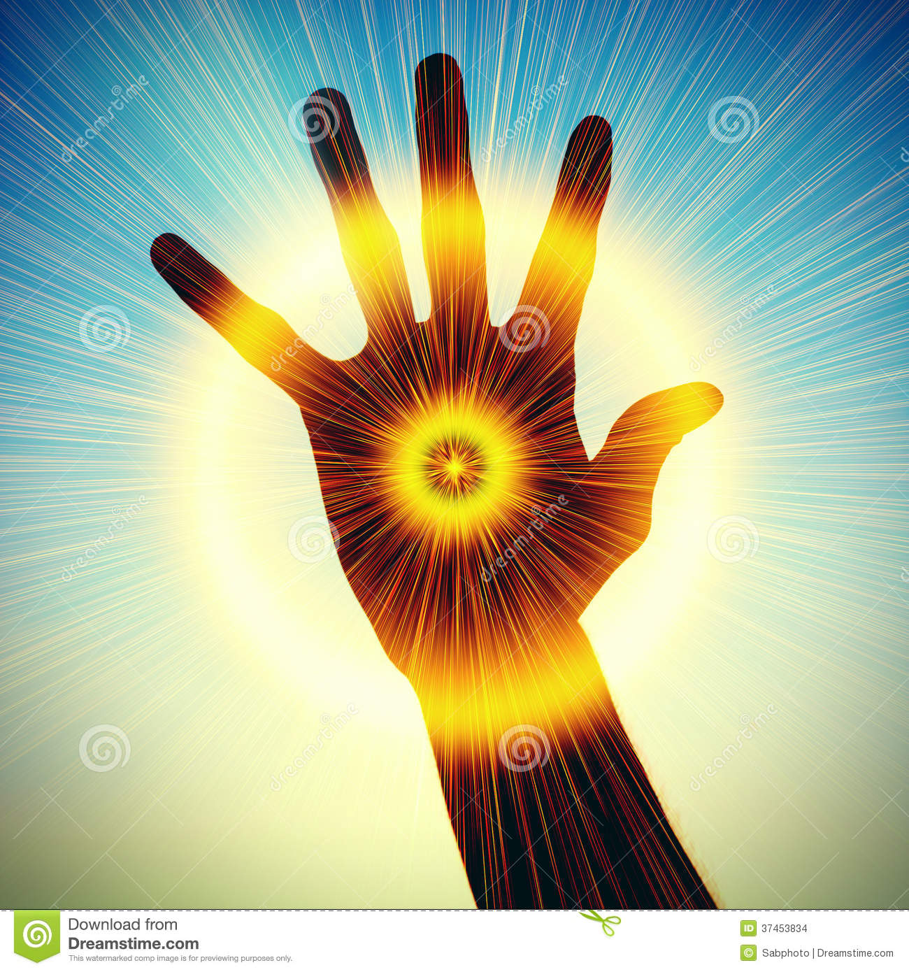 Concept Of Power In Hand Stock Photo Image Of Background