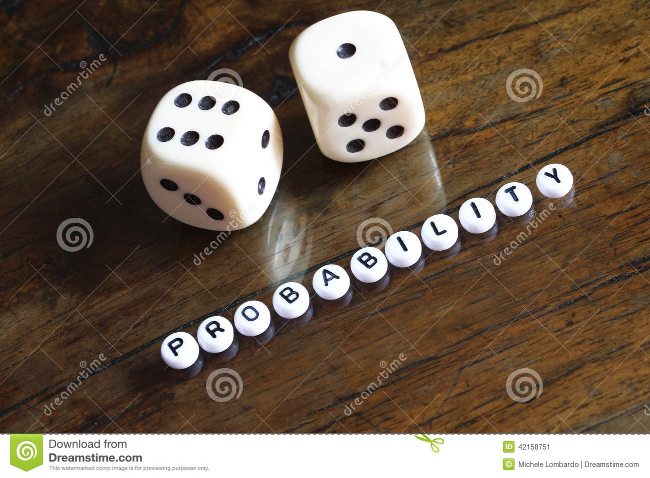 Concept Of Probability Number Seven Stock Image